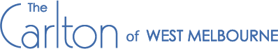 The Carlton of West Melbourne Logo Blue